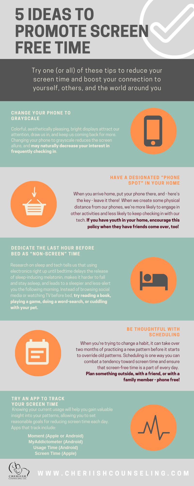 Promoting Screen-Free Time Infograph
