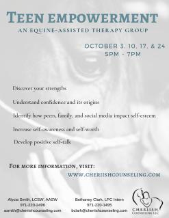 Self-esteem group flyer
